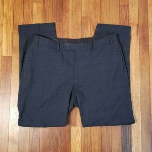 Calvin Klein Gray Black Tweed Dress Pants 36X30